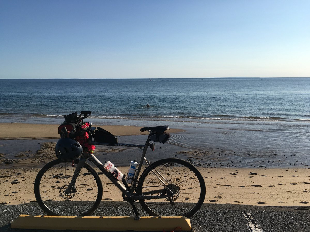 Until next summer for bicycle & ocean plunges