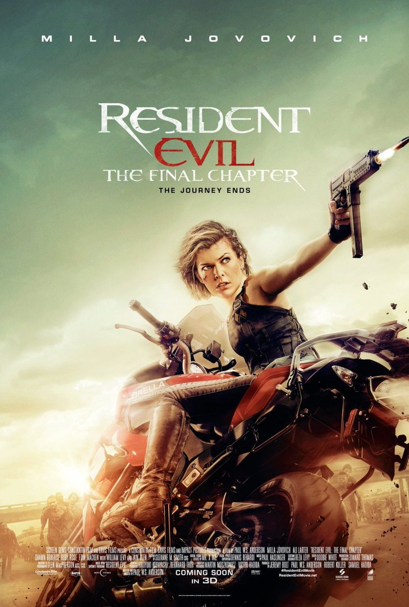 New Resident Evil: The Final Chapter Posters Revealed