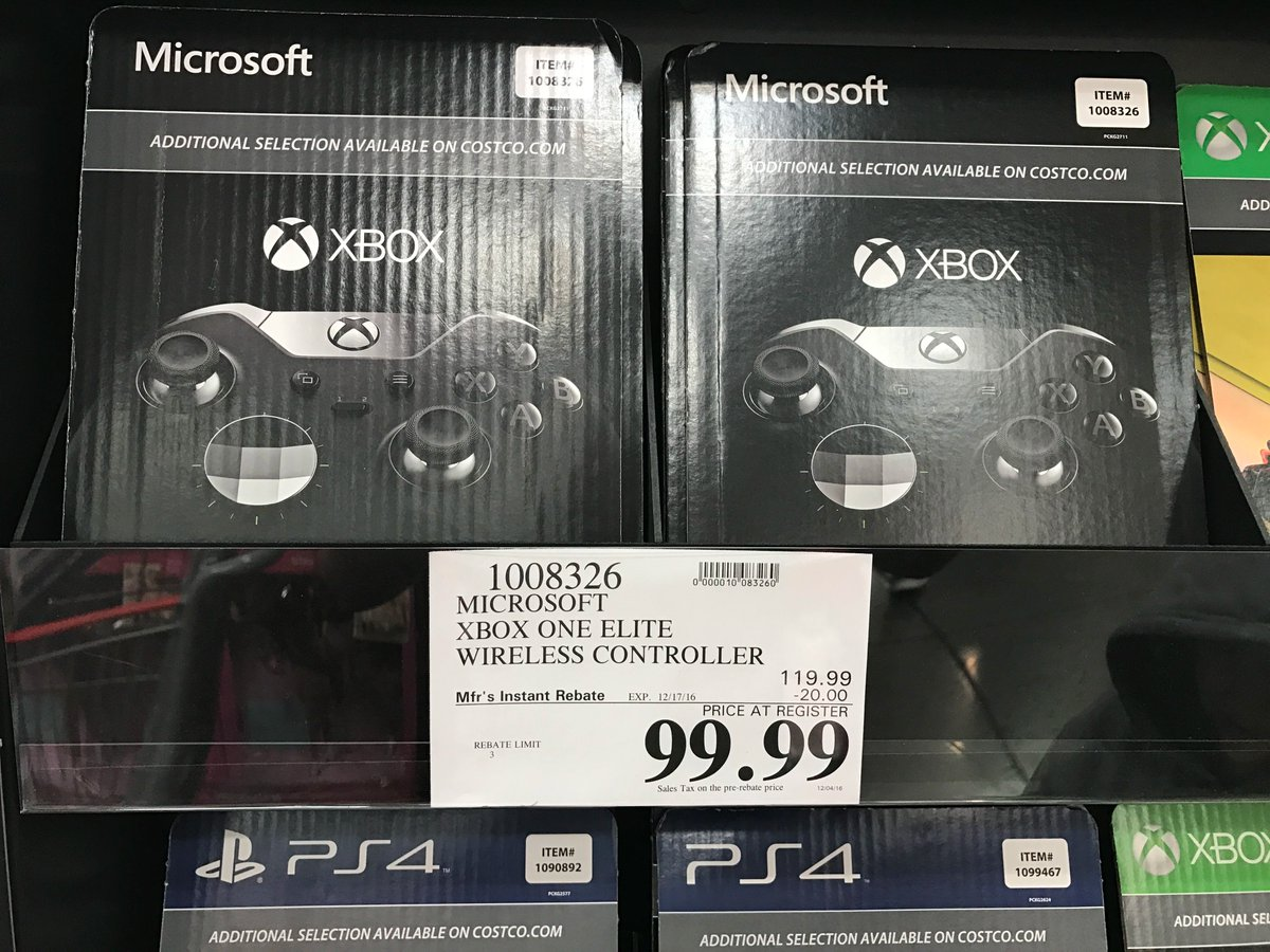 Wario64 On Twitter Xbox One Elite Controller Is 99 In Store At Costco HttpstcohyKUUirpeK