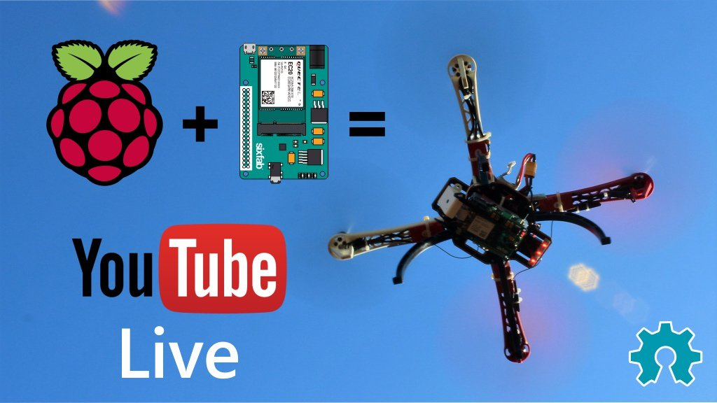 .@SixfabInc's shield can turn your @Raspberry_Pi into a @YouTube live-streaming drone: