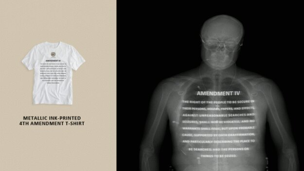 His & Her #4A Constitution underclothes protest TSA full-body scan at airports  #IoT #gamedev