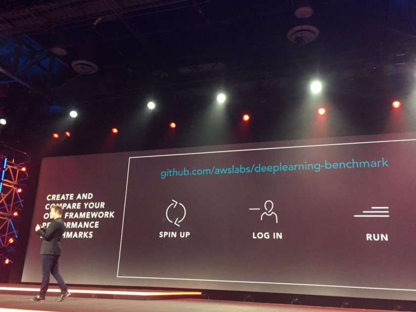 .@mza announcing a new deeplearning benchmark:  #reInvent
