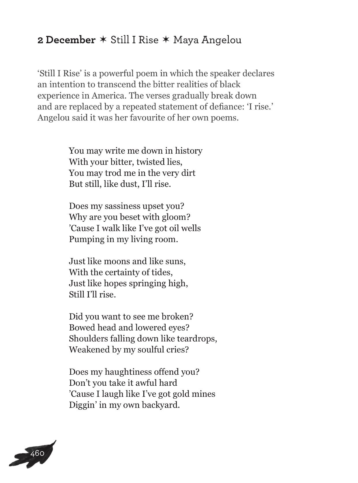 "Allie Esiri On Twitter ""Today's Poem 'Still I Rise' By"
