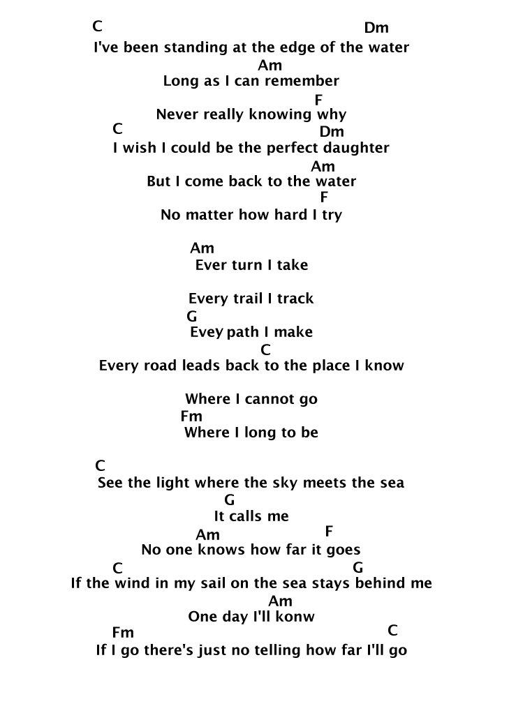 Lirik Lagu How Far I'll Go Alessia Cara : lirik, alessia, Standing, Water