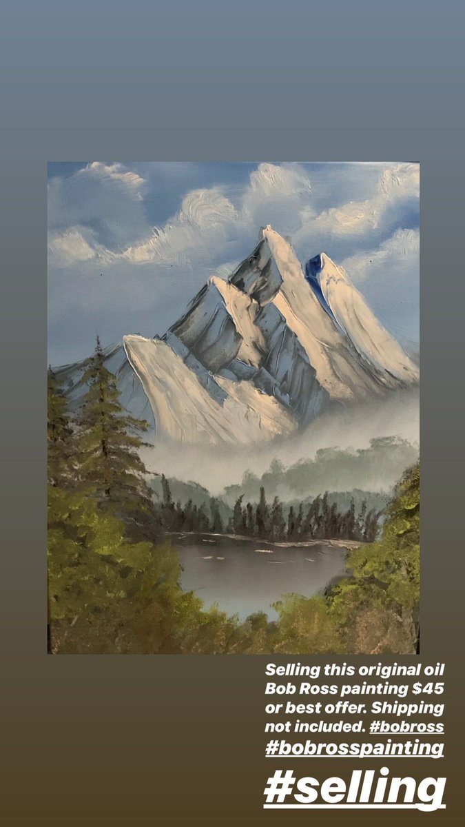 How Much Do Bob Ross Paintings Sell For : paintings, Toweringpeaks, Hashtag, Twitter