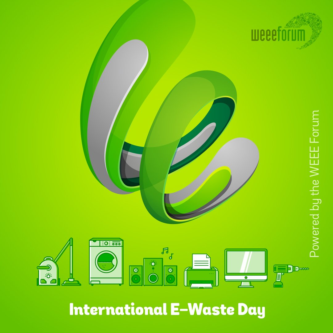 hight resolution of  international e waste day will be held on 14 october 2019 to promote the correct disposal of e waste throughout the world