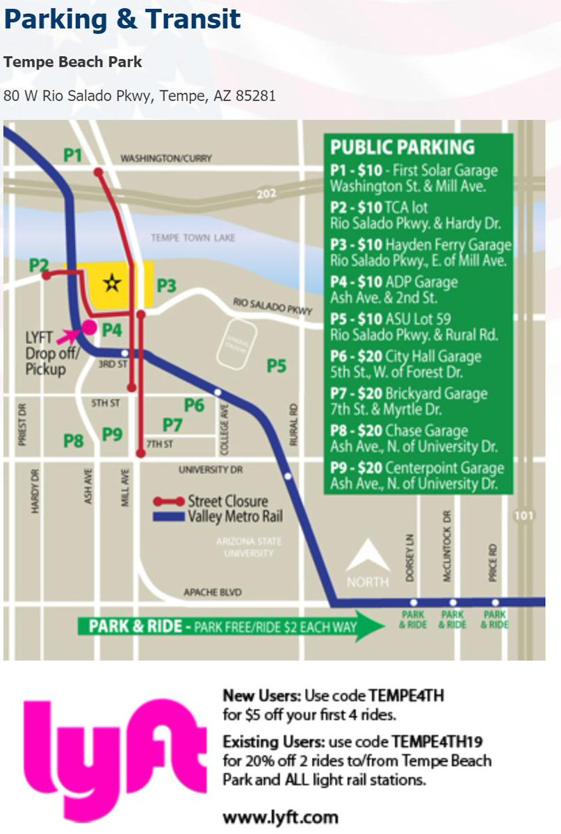 hight resolution of going to the july 4th tempe town lake festival plan ahead for heavy traffic and road closures bring your patriotic spirit and your patience