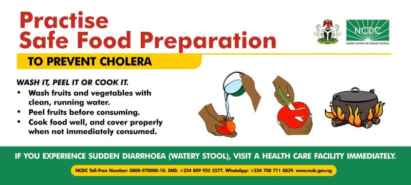 """NCDC på Twitter: """"#Cholera causes rapid dehydration, so fluid replacement is essential. Most infected people can be treated successfully through prompt administration of oral rehydration solution (ORS) and supportive treatment. See 5"""