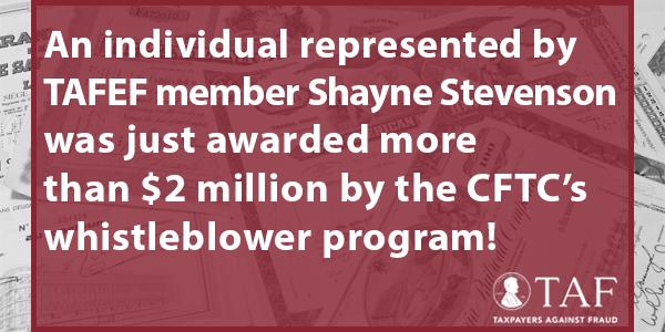 Image for the Tweet beginning: The @CFTC's whistleblower program just