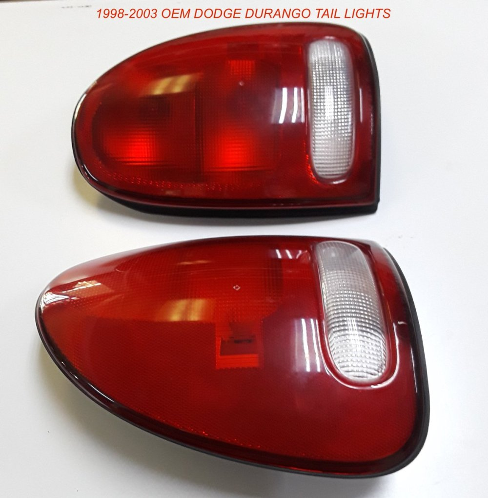 medium resolution of 1998 2003 dodge durango oem tail lights 60 fits 98 03 durango oem used but in very good condition very slight scuffs on them and no cracks or breaks at
