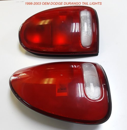 small resolution of 1998 2003 dodge durango oem tail lights 60 fits 98 03 durango oem used but in very good condition very slight scuffs on them and no cracks or breaks at