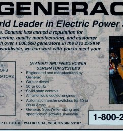 this ad from 1993 highlights our industrial generator offerings back then our units went up to 275 kw today it s 2 mw  [ 1200 x 764 Pixel ]