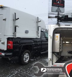 diablo series spacekap upfitted and installed on this sierra 2500 by our store in charlottetown  [ 1200 x 900 Pixel ]