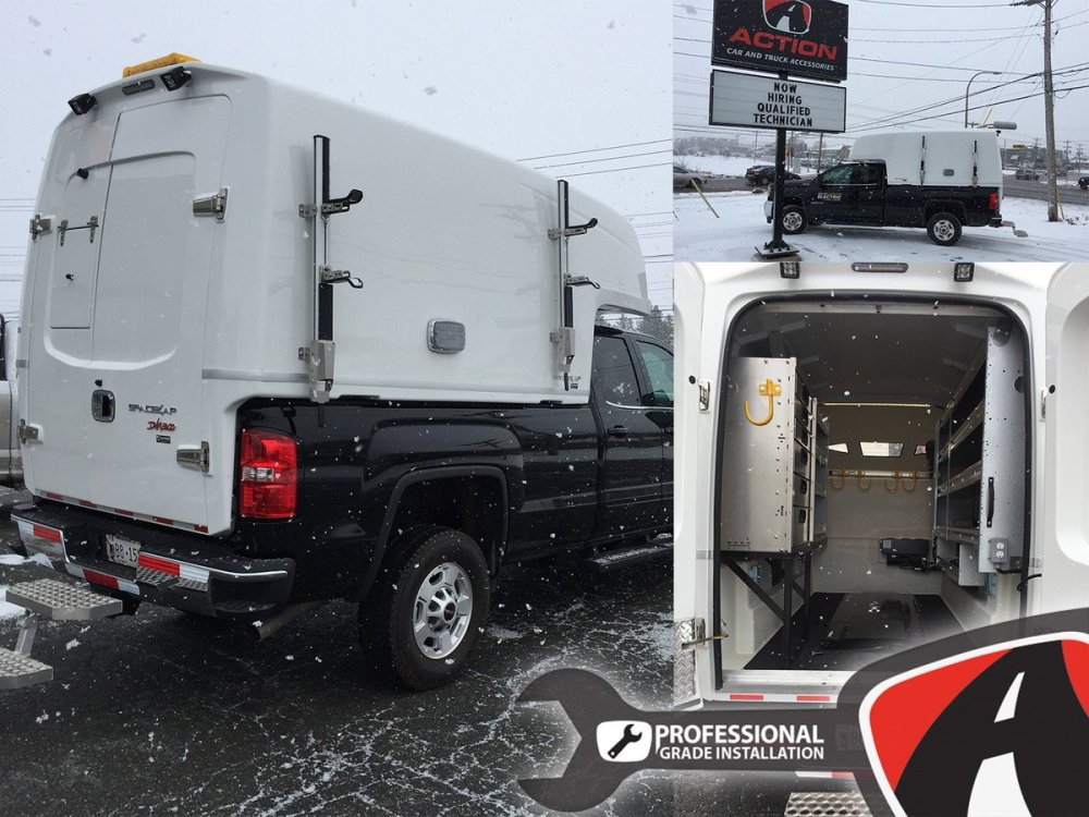 medium resolution of diablo series spacekap upfitted and installed on this sierra 2500 by our store in charlottetown