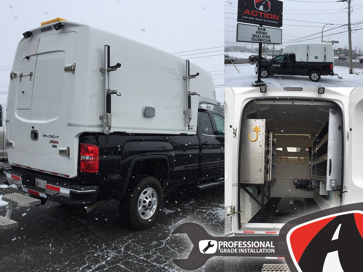 hight resolution of diablo series spacekap upfitted and installed on this sierra 2500 by our store in charlottetown