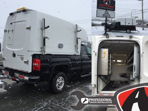 small resolution of diablo series spacekap upfitted and installed on this sierra 2500 by our store in charlottetown