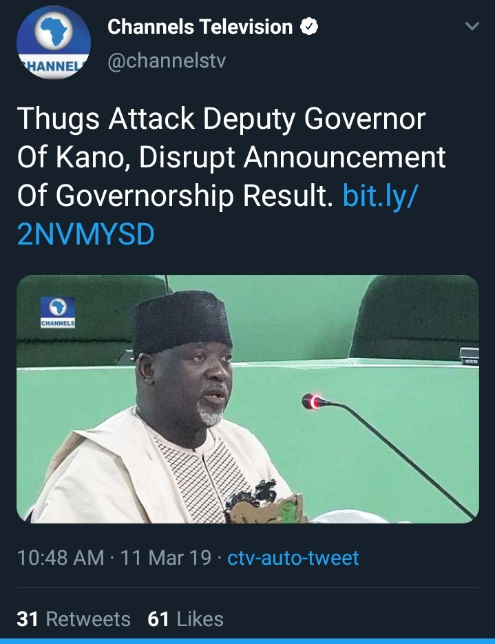 D1X2nOoX0AAm6Jo - Channels TV under fire for 'misinformation' over the arrest of Kano State Deputy Governor