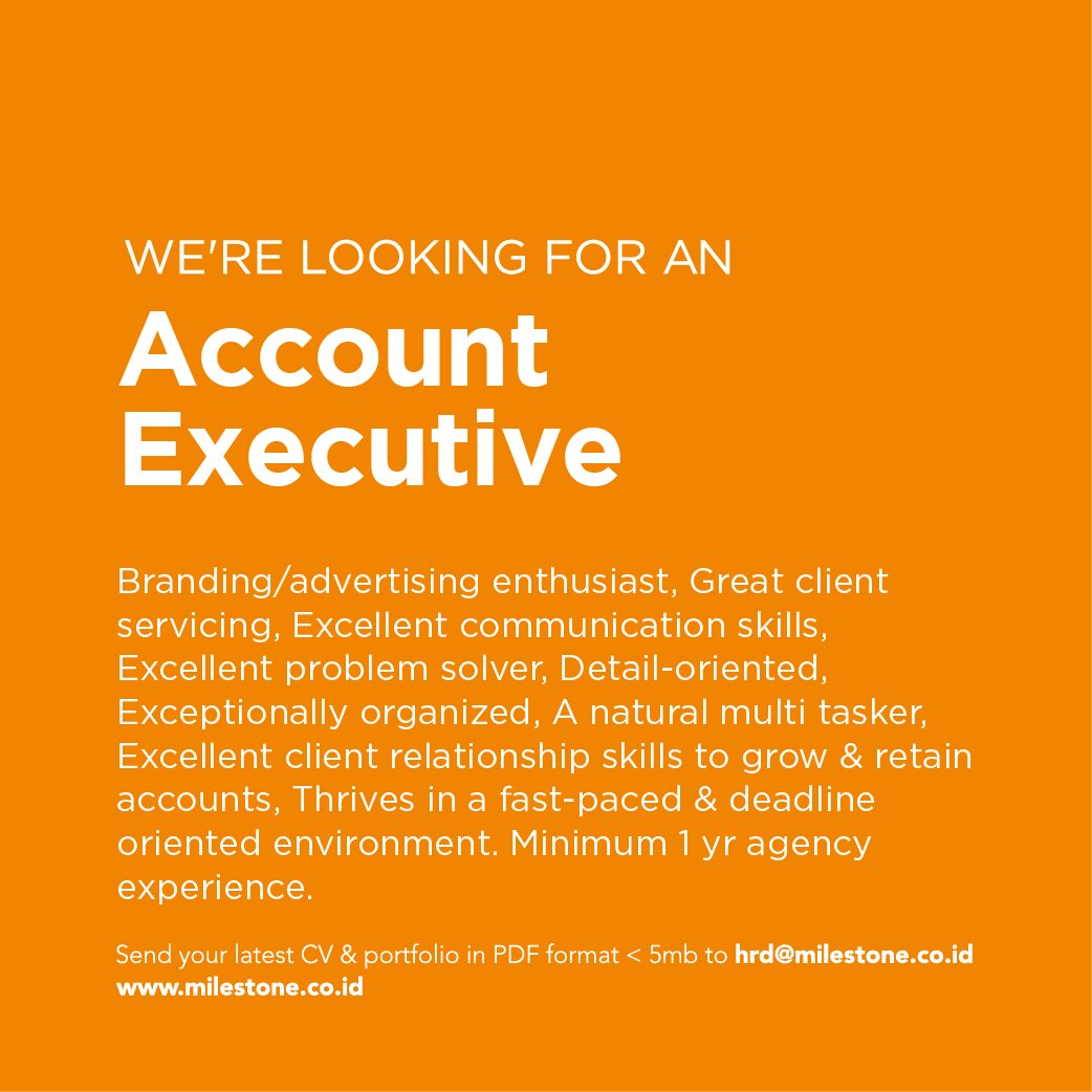 Agency Account Executive Cover Letter Milestoneid We Re Hiring Account Executive And Senior Ae To Join