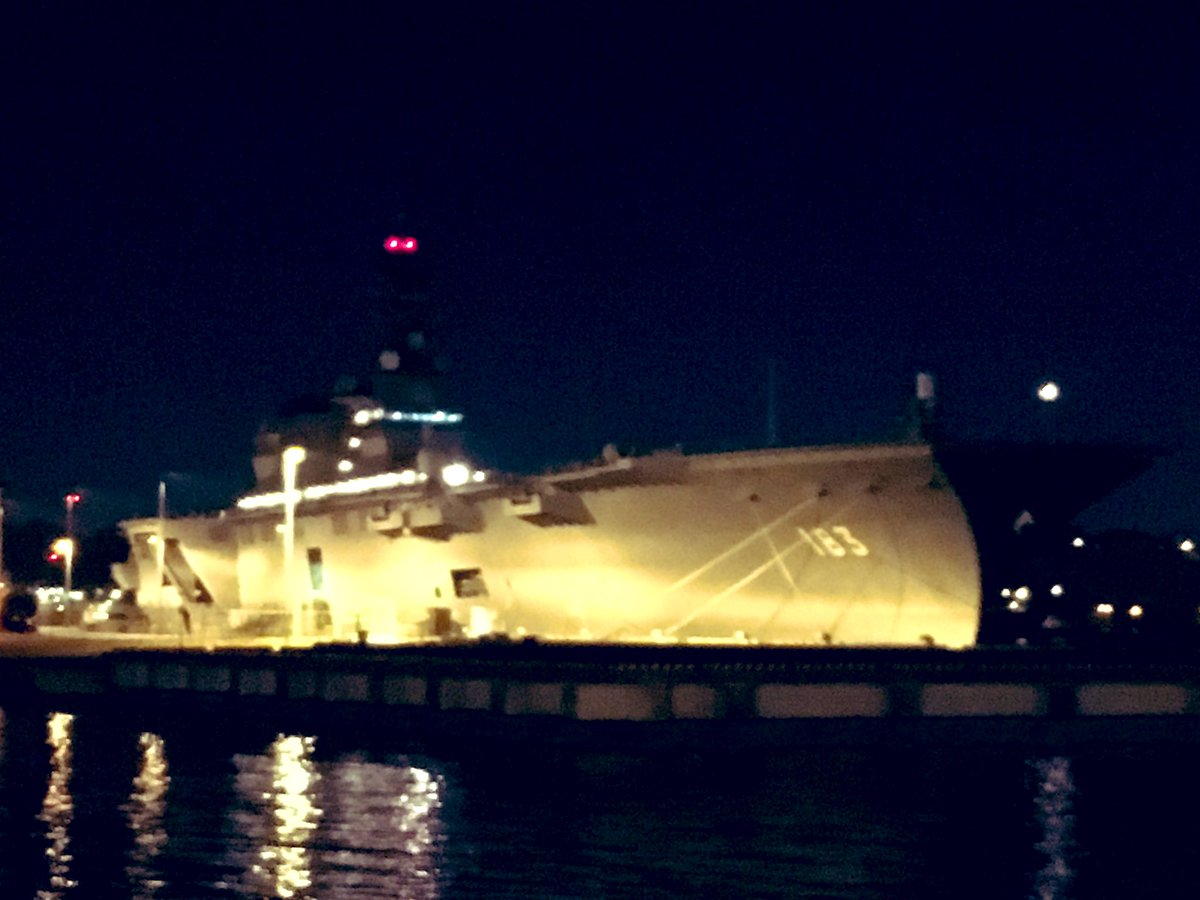 test ツイッターメディア - ←iPhone様 PENTAX様→  海上自衛隊 いずも型護衛艦 https://t.co/a059gtbbAf