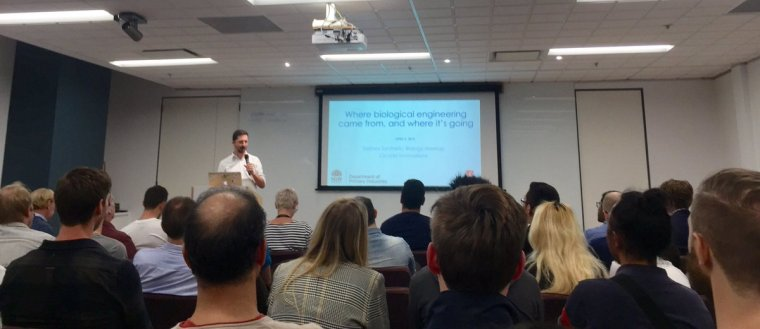 Great to see @Synbio groups gathering in @sydney with @synbiosyd hosting their first meet up earlier this week. Let's get this industry booming! #nextgenerationsciencerighthere