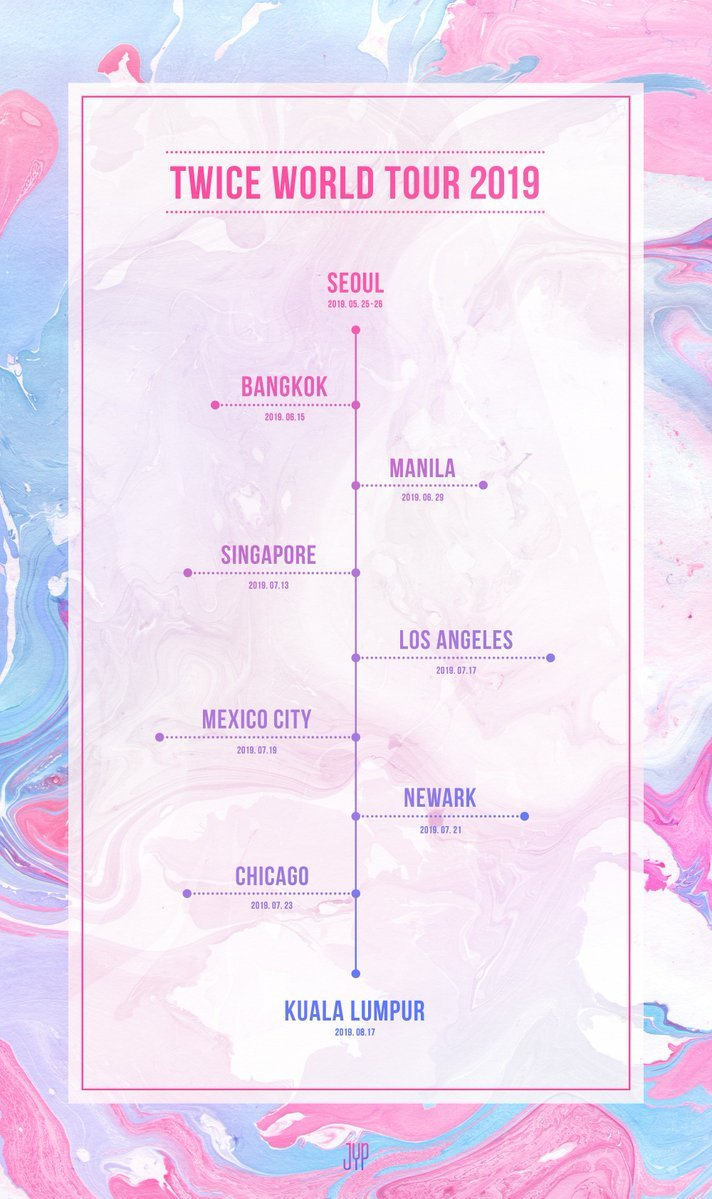 TWICE World Tour 2019 Schedule