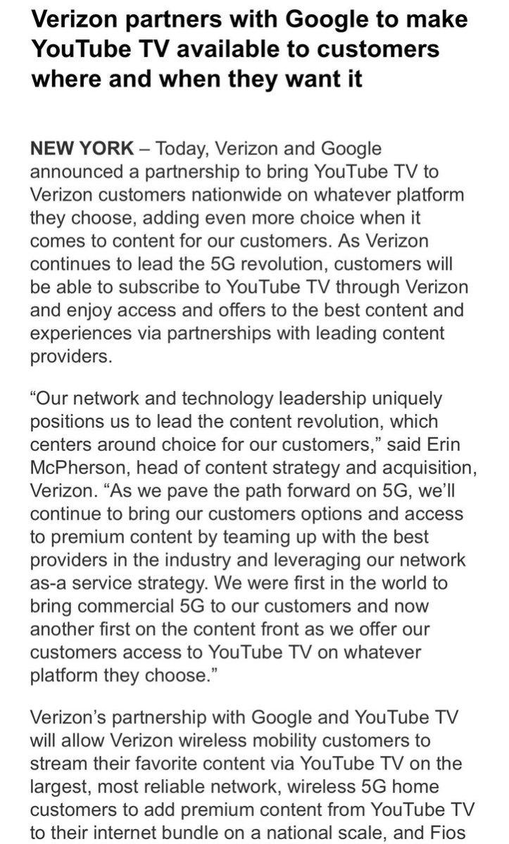 test Twitter Media - Big news across the pond. Verizon will be Google's first telco partner for YouTube TV  https://t.co/520uw46cV6 https://t.co/sALdtgmsqD