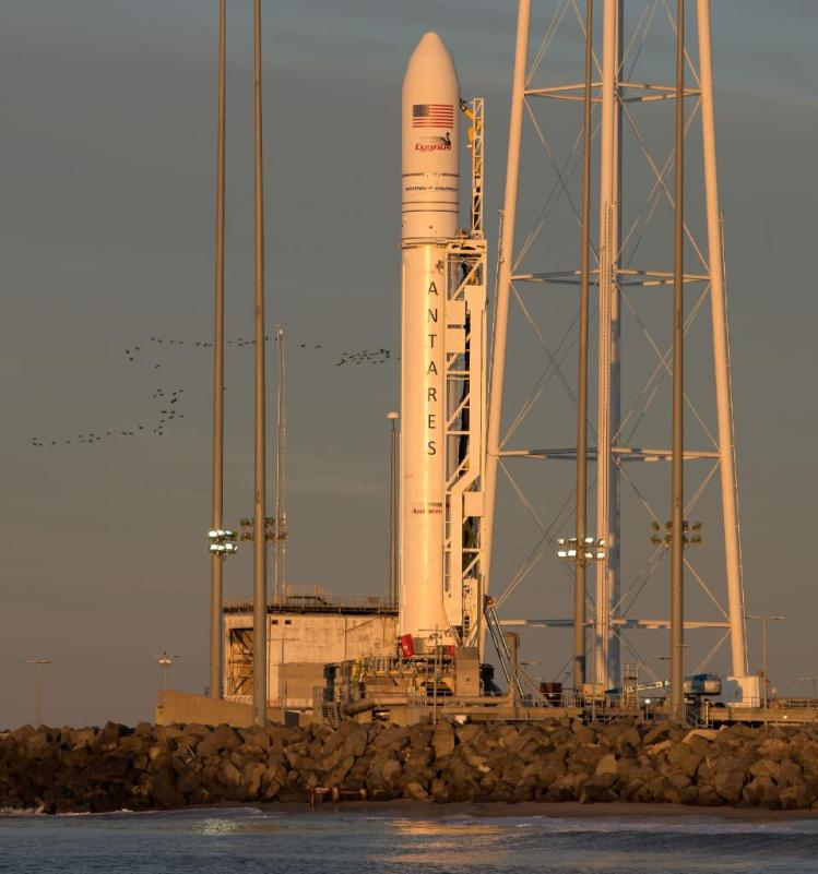 Antares rocket at launchpad