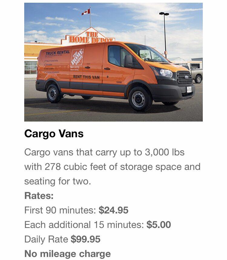 Rent A Cargo Van Home Depot Rent A Cargo Van