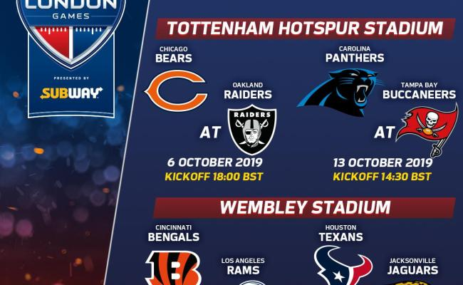 List Of Nfl Games In London Gamewithplay