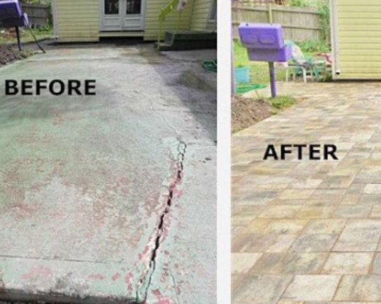revitalize your cracked concrete patio