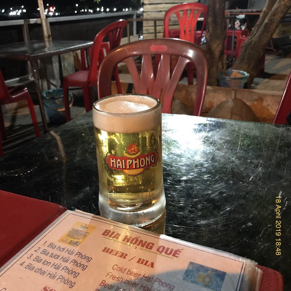 Local beer garden, street food, & live music in Cát Bà