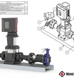 the cre pump is a vertical multi stage centrifugal pump system including a cr pump motor and integrated variable frequency drive that can be utilized  [ 1200 x 778 Pixel ]