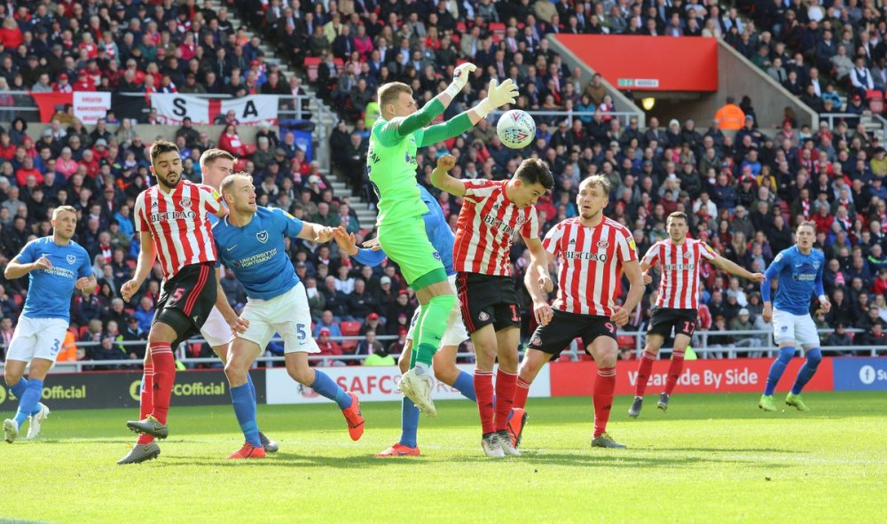 medium resolution of sunderland afc on twitter 85 safc 1 1 pompey into the final few minutes willgrigg clips the post as mcgeady lifts one in towards the near post
