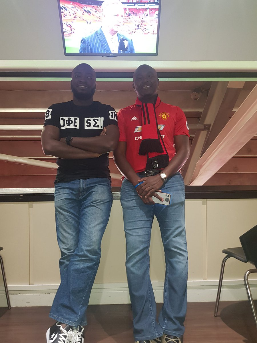 D5P1l8bW4AAf 34 - [Pictures]: Nairabet Owner, Akin Alabi, Spotted At Old Trafford As Manchester United Welcome Chelsea