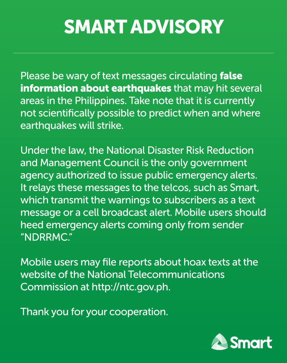 medium resolution of please be wary of hoax text messages about earthquakes that may hit the philippines it is currently not possible to predict when and where earthquakes will