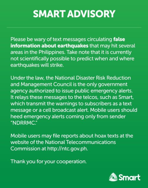 small resolution of please be wary of hoax text messages about earthquakes that may hit the philippines it is currently not possible to predict when and where earthquakes will
