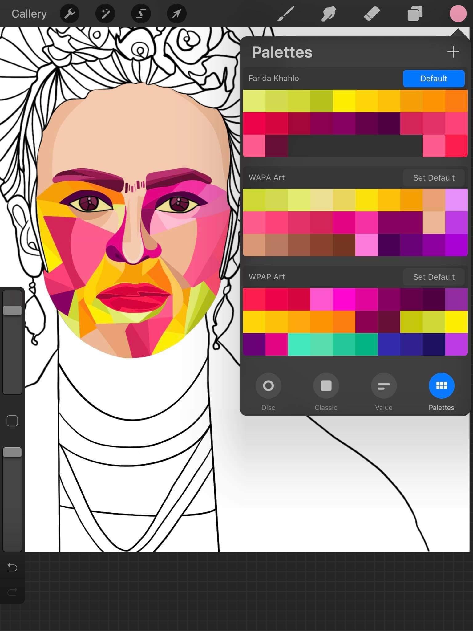 Wpap Color Palette : color, palette, Pintura, Unique, Style, Twitter:,