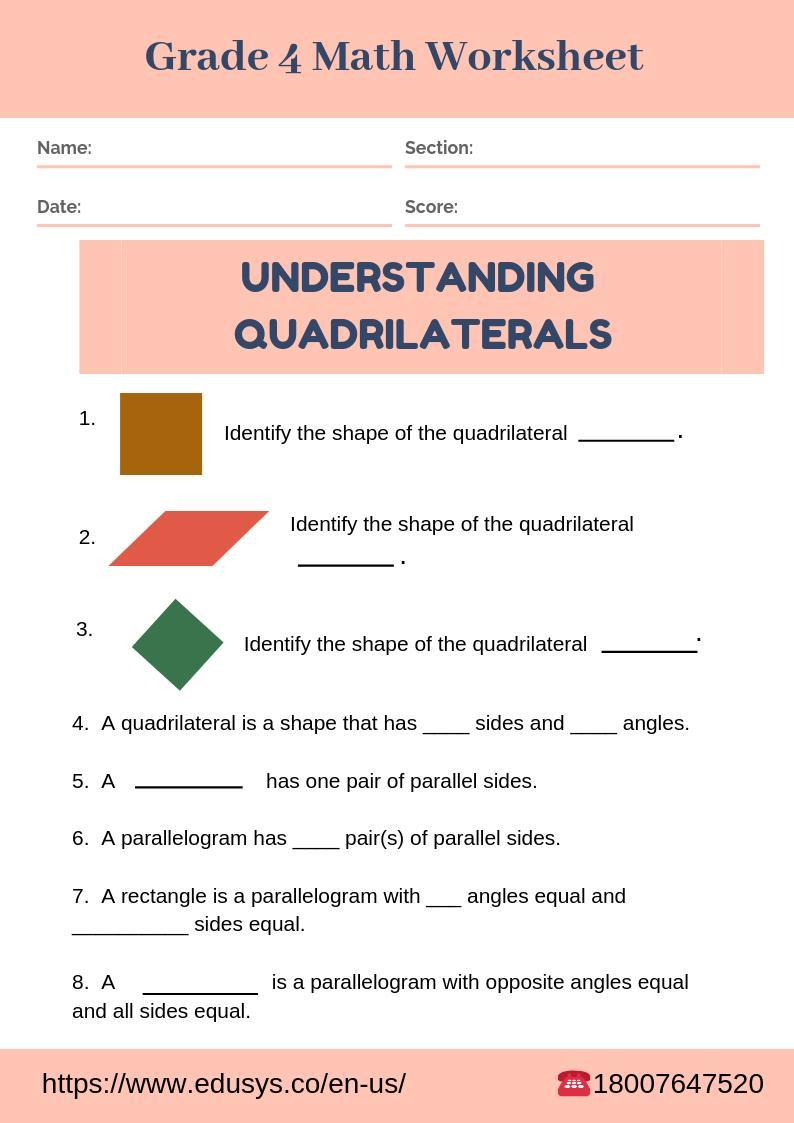 medium resolution of EduSys on Twitter: \Download class 4 Maths Worksheet #grade4worksheet  #Mathsworksheet #class4worksheet #worksheet #schoolworksheet  #practiceworksheet #studentworksheet #4thclassworksheet  #class4mathsworksheet #mathsproblems #quadrilaterals ...
