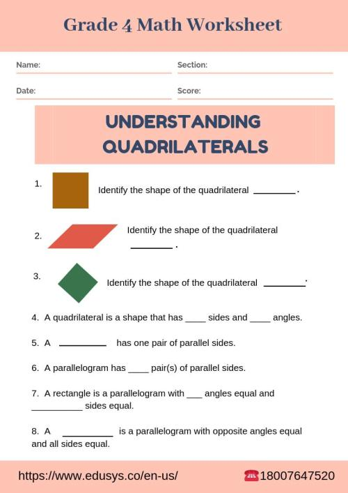 small resolution of EduSys on Twitter: \Download class 4 Maths Worksheet #grade4worksheet  #Mathsworksheet #class4worksheet #worksheet #schoolworksheet  #practiceworksheet #studentworksheet #4thclassworksheet  #class4mathsworksheet #mathsproblems #quadrilaterals ...