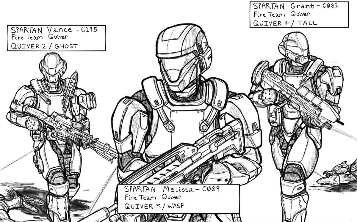 How To Draw A Halo Character