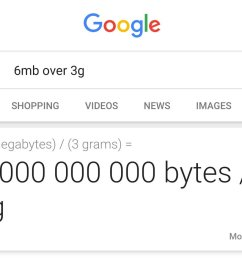 6mb over 3g returned calculation for 6 megabytes divided by 3 grams [ 1200 x 938 Pixel ]
