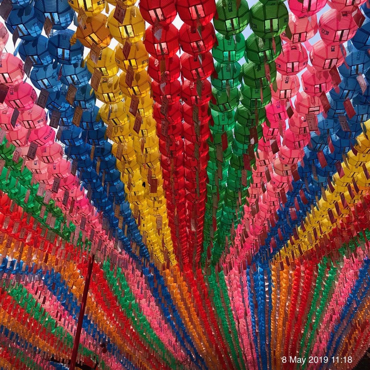 Buddha's Birthday festival, food, & lanterns