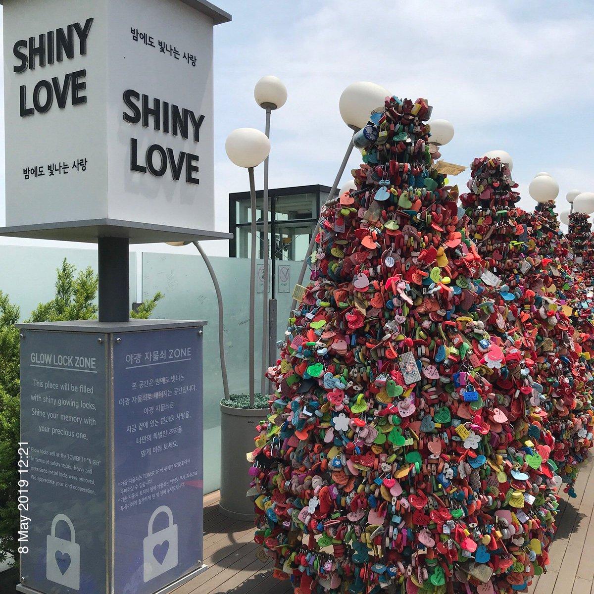 Plenty of Shiny Love locks by N Seoul Tower