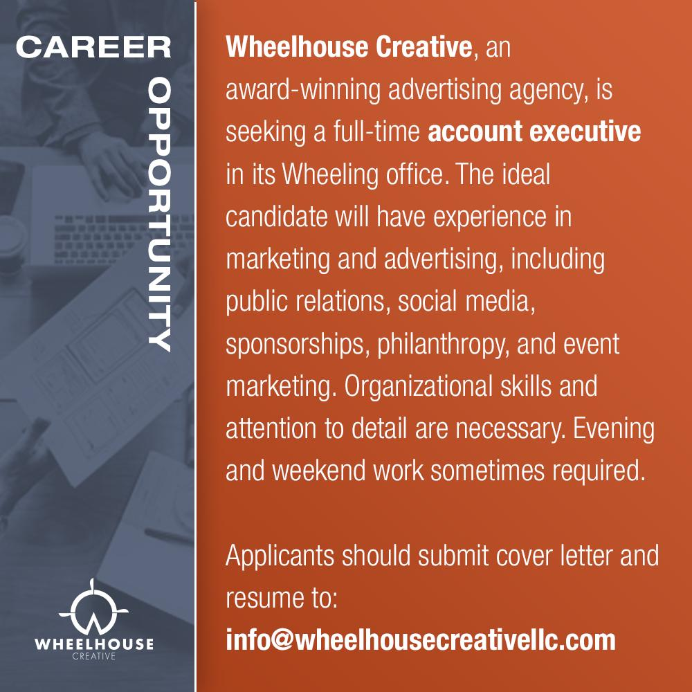 Agency Account Executive Cover Letter Career Opportunity Wheelhouse Creative