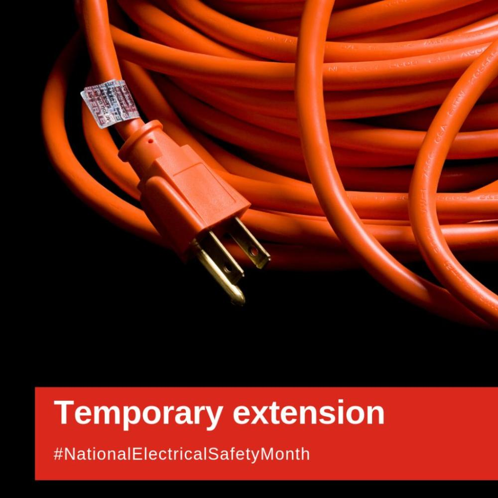 medium resolution of extension cords graphic for national electrical safety month 2019 nationalelectricalsafetymonth nesm2019
