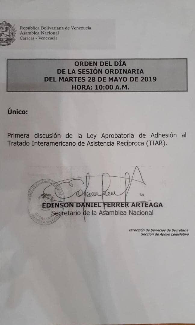 D7rBII XsAARBBE - Venezuela, oposición avanza intervención militar extranjera con TIAR