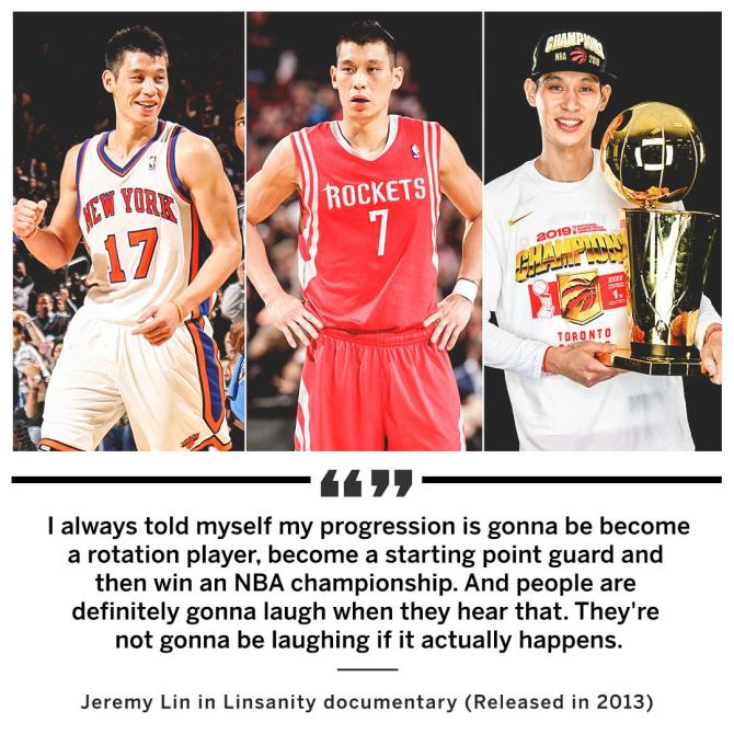 RT @SportsCenter Jeremy Lin spoke it into existence. (h/t PZinger6/Reddit)
