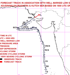 cyclone vayu weakened as low pressure area crosses kutch coast causing rains in kutch saurashtra north gujarat [ 1200 x 709 Pixel ]