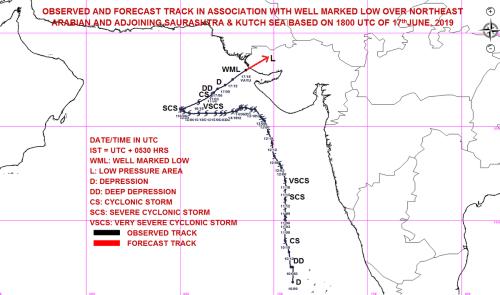 small resolution of cyclone vayu weakened as low pressure area crosses kutch coast causing rains in kutch saurashtra north gujarat