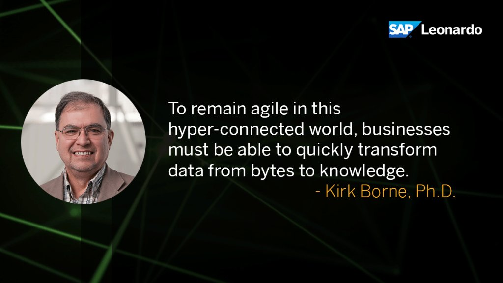 Get @kirkdborne 's thoughts on how #bigdata will help companies be more agile.